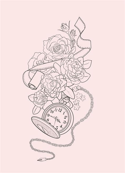 drawing tattoo design pocket mortani