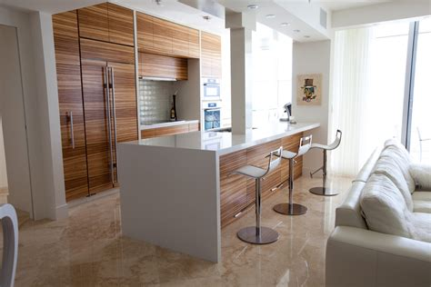 zebra wood kitchen cabinets zebra wood cabinets kitchen modern with bench galley