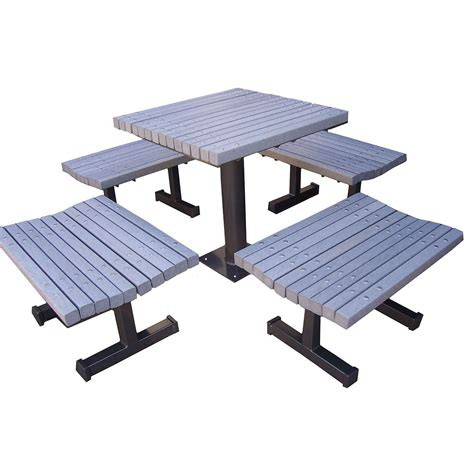 plastic bench table plastic tables boulevard plastic picnic table
