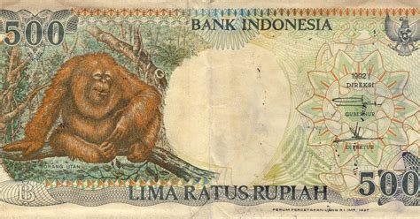 K10 3 Keping Koin Luar Negri benda antik langka uang kertas 500 rupiah orang utan