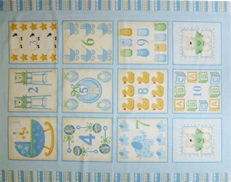 Childrens Patchwork Fabric - childrens patchwork fabric baby cot panel blue