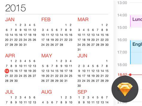 Calendar Ios Calendar For Ios Freebie Sketch Resource