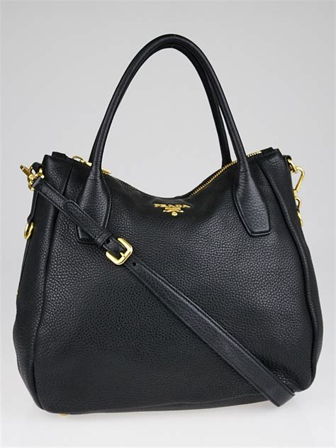 Prada Vitello Daino Mini Hobo Purse by Prada Black Leather Hobo Vitello Daino Prada Handbag Bag