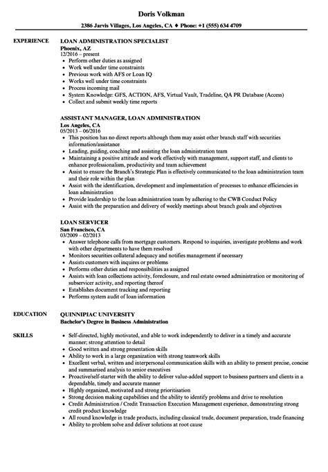 loan resume sles velvet
