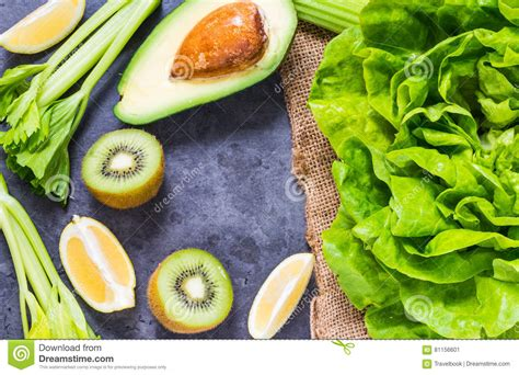 Best Detoxing Green Vegetables by Fruits And Vegetables For Smoothie Stock Photo Image