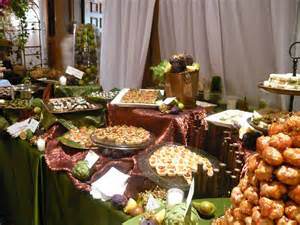 Buffet Table Displays Course California Moroccan Dinner Menu