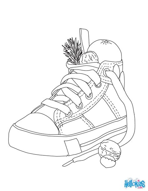 coloring pages for christmas in germany christmas shoe coloring pages hellokids com