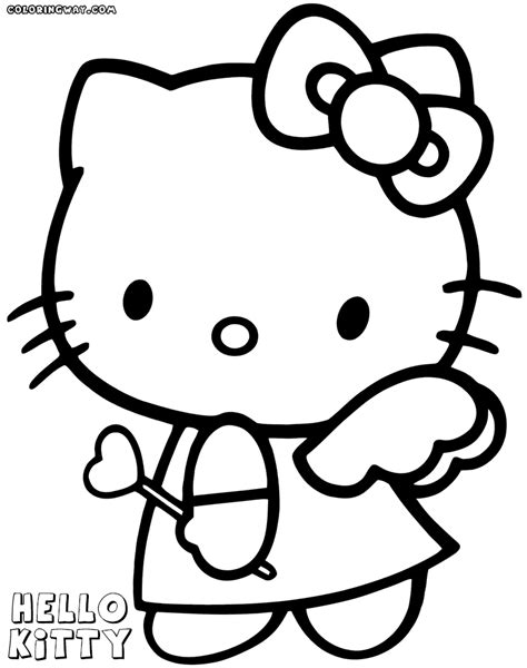 hello kitty skating coloring pages hello kitty valentines coloring pages coloring pages to