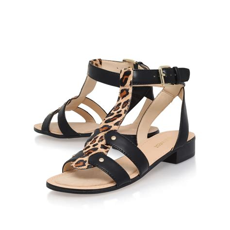 nine west sandals nine west yippee3 low heel sandals in black save 60 lyst