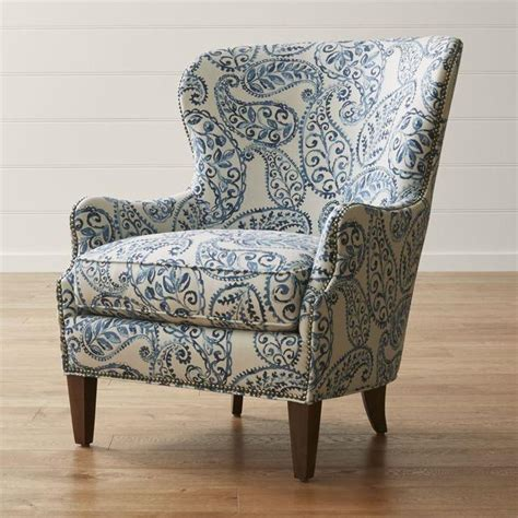 Blue And White Armchair by 19 Furniture Vintage Floral Wing Chair Italian Accent Chair At 1stdibs Chas Navy Blue