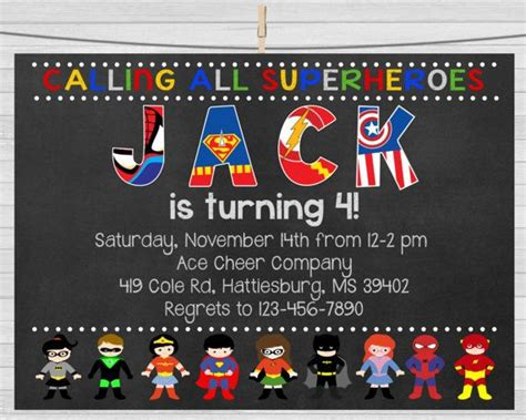 1000 ideas about superhero invitations on pinterest