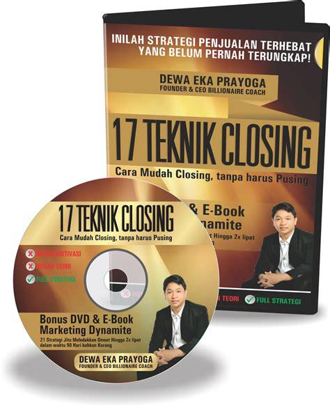 Buku Strategi Sukses Berjualan sukses berdagang buku dvd 17 teknik closing