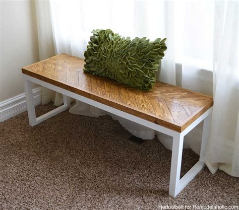 bench designs diy remodelaholic diy wood chevron bench with box frame