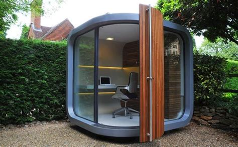 Backyard Pod by Small Home Office In Your Backyard Officepod Freshome