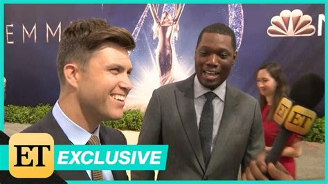 michael che emmys youtube colin jost and michael che play coy about their emmy dates