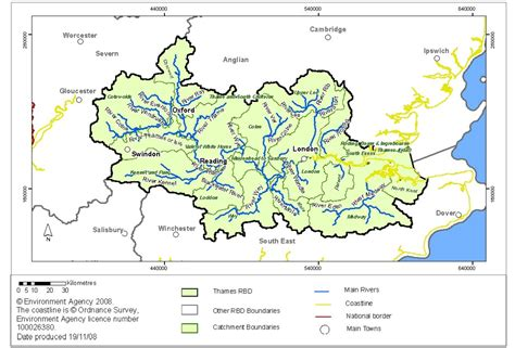 river thames catchment area map planning policy harlow council