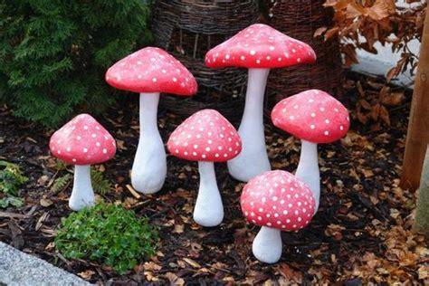 Pilze Basteln Garten by Fliegenpilze Aus Beton Und Styropor Selbstgemacht Und Ideen