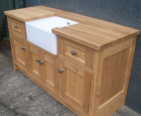 hton bay harvest cabinets oak belfast sink base unit