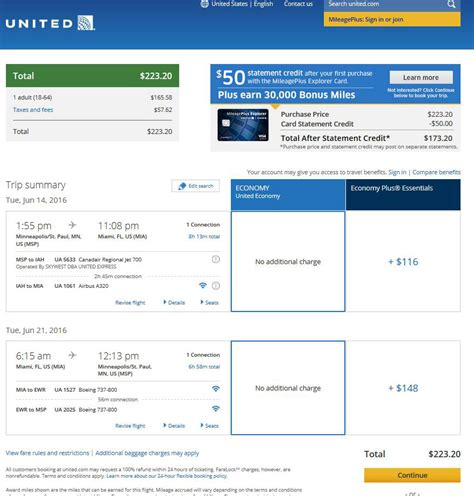 united airlines booking 207 224 minneapolis to miami may july r t fly