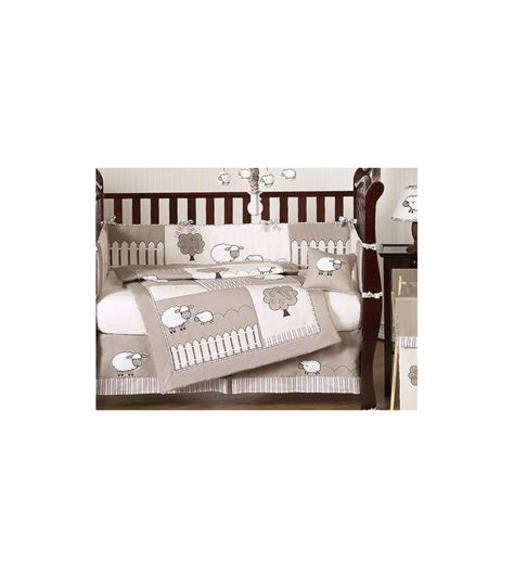 lamb crib bedding sweet jojo designs lamb 9 piece crib bedding set