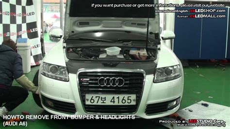 service manual 2007 audi s6 remove the passenger side sun visor mirror new oem ulo audi a6 howto remove front bumper headlights audi a6 아우디 a6범퍼 탈거 방법 youtube