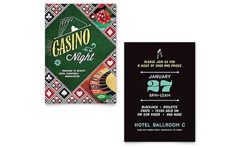 Casino Night Flyer Ad Template Design Casino Fundraiser Flyer Template