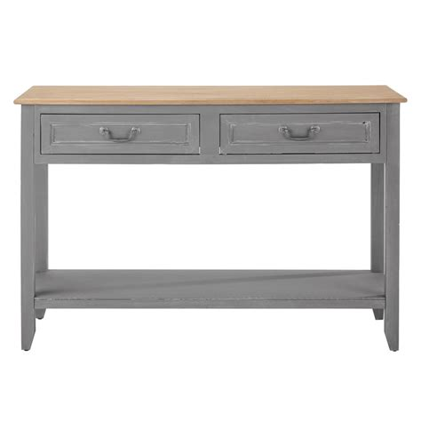 Grey Console Table Console Table In Grey Honorine Maisons Du Monde