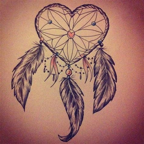 dreamcatcher tattoo feathers by beau victoria redman heart dream catcher with feathers