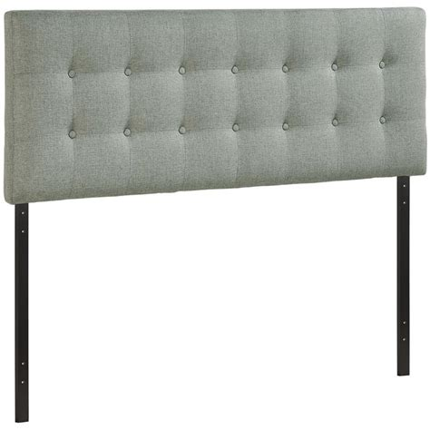 gray upholstered headboard queen modway emily upholstered queen panel headboard in gray