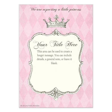 Princess Invitation Templates royal shower princess invitations cards on pingg