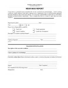 near miss report form template near miss reporting format fill printable