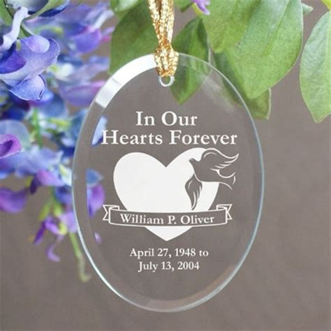 in our hearts forever christmas memorial ornament
