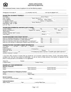 housing rental application template equal form housingpdffillercom fill printable
