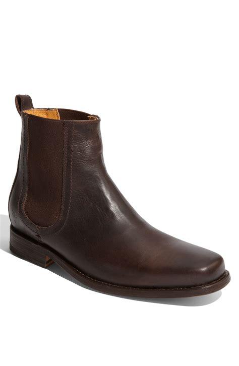 frye chelsea boot frye emmett chelsea boot in brown for chocolate lyst
