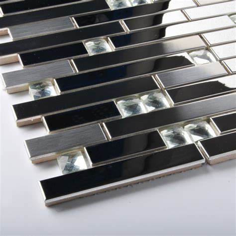 stainless steel wall tiles backsplash tst stainless steel mosaic tile silver mirrored tiles