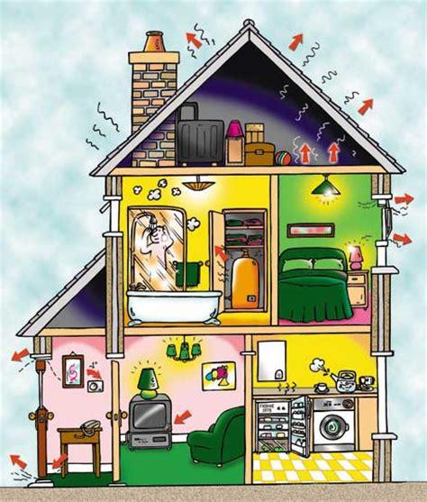 house cross section cartoonistenergy flows where goes it go cartoon