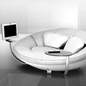 gadget sofa multimedia upholstered sofa with an incorporated computer