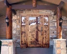 Log Cabin Front Doors Front Door Log Cabin Homes Beautiful Columns And Doors