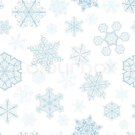 How To Make Small Snowflakes From Paper - seamless pattern with big and small snowflakes