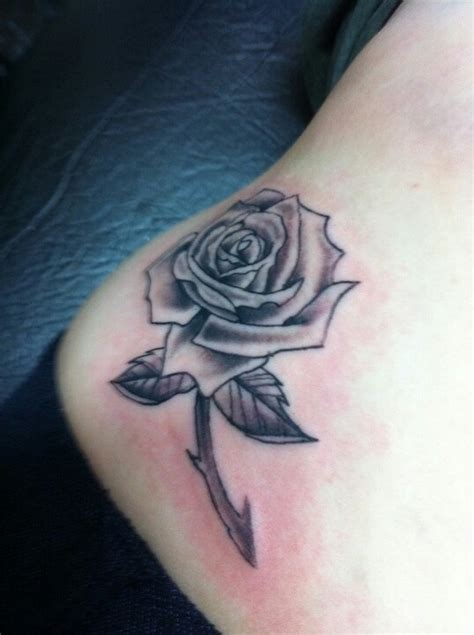 metal rose tattoo black and white tattoos