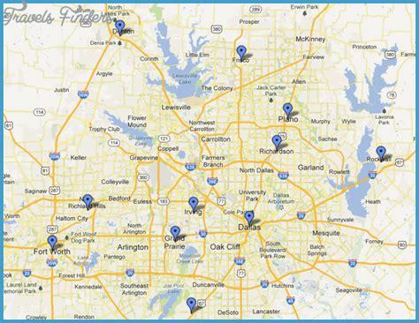 printable map dfw metroplex fort worth metro map travelsfinders com