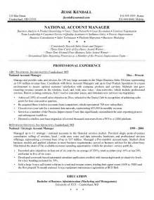 Account Sales Manager Sle Resume by Excellent Resume Account Management Search