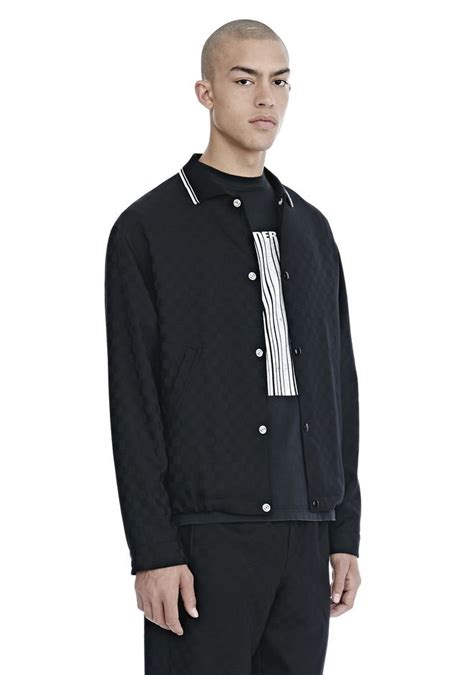 checkerboard wool jacquard coach s jacket jackets and