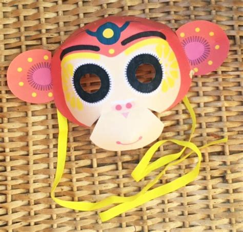 new year of the monkey craft activities happy thought printable new year monkey masks