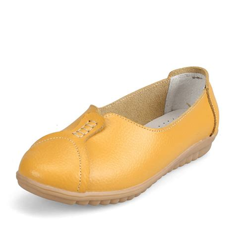 flat shoes poxing slip on casual soft leather flat shoes driving slip ons