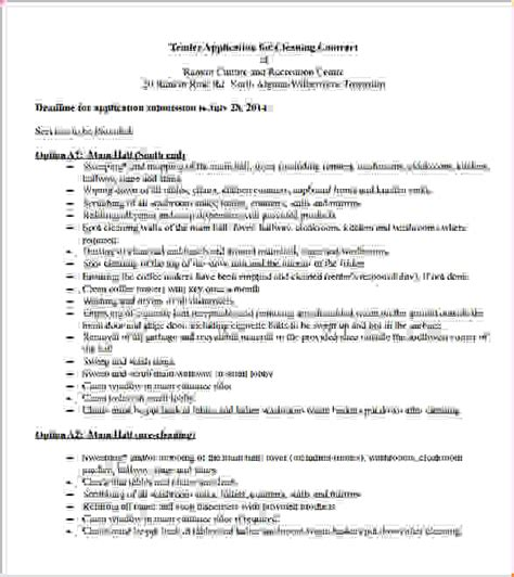 8 cleaning contract templatereport template document