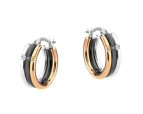 stainless steel earrings with cubic zirconia el126 6783
