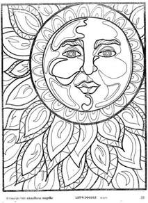 psychedelic coloring book sun moon coloring pages lineart sun and moon and