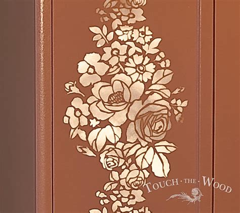 shabby chic wardrobe with stencil no 04 touch the wood