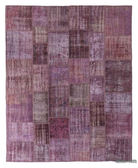 Turkish Overdyed Patchwork Rugs - k0018708 purple dyed turkish patchwork rug